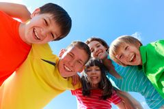 entusiastiskt lyckligt för barn royaltyfri fotografi