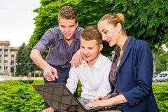 Entuzjastyczni ludzie biznesu Fotografia Stock