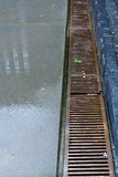 Entwässerungs-Gitter Stockfoto