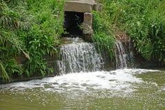Entwässerungsgraben Stockfotografie
