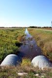Entwässerungsgraben stockbild