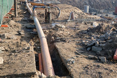 Entwässerungssystem auf Baustelle 3 Lizenzfreie Stockfotografie