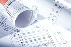 Entwürfe des neuen Hauses Stockfotografie
