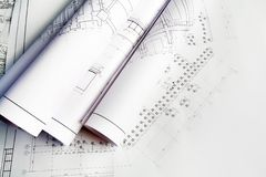 Entwürfe des neuen Hauses Stockfoto