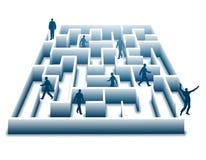 Entweichen des Büro-Labyrinths Stockfoto