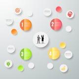 Entwerfen Sie die infographic Sinneskarte, kann für Arbeitsfluß, Plan, Sinneskarte verwendet werden Stockfotografie