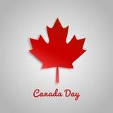 Entwerfen Sie eine Fahne für Kanada-Tag Juli 1. Lizenzfreie Stockbilder