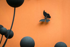 Entwerfen Sie für Wand, weiße Schmetterlinge, die Zusammenfassung, kreativ lizenzfreies stockfoto