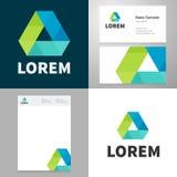 Entwerfen Sie Ikone elemnet vith Visitenkarte- und Papierschablone Stockfotografie