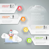 Entwerfen Sie infographic Schritte der Schablone 4 für Geschäftskonzept Stockbilder