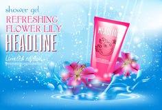 Entwerfen Sie Kosmetikproduktwerbung für Katalog, Zeitschrift Lizenzfreie Stockfotografie