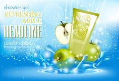 Entwerfen Sie Kosmetikproduktwerbung für Katalog, Zeitschrift Stockbilder