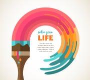 Entwerfen Sie, kreativ, Idee und Farbkonzept Stockfotografie
