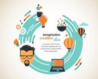 Entwerfen Sie, kreativ, Idee und Innovationskonzept stock abbildung