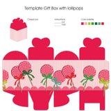 Schablone für Geschenkbox Stockfotos