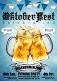 Entwerfen Sie Plakat für traditionelles Bierfestival Oktoberfest in hohem Grade Lizenzfreie Stockbilder