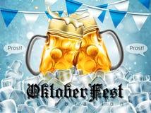 Entwerfen Sie Plakat für traditionelles Bierfestival Oktoberfest in hohem Grade Lizenzfreie Stockfotografie