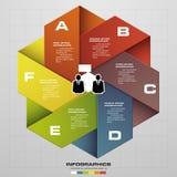 Entwerfen Sie saubere Fahnenschablone/Grafik- oder Websiteplan Diagramm mit 6 Schritten Vektor Lizenzfreie Stockbilder
