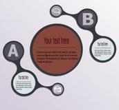 Entwerfen Sie saubere Zahlfahnen-Schablonengraphik oder Websiteplan Art poligon Stoffwechselprodukte Lizenzfreie Stockfotos