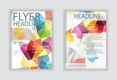 Entwerfen Sie Vektorschablonenplan für Zeitschriftenbroschüren-Flieger bookle Stockfotos