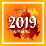 Entwerfen Sie viel sagendes zum neuen Jahr von 2019 stockbild
