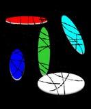 Entwerfen Sie Zusammensetzung mit farbige Anschläge auf Farbellipsen Lizenzfreie Stockfotografie