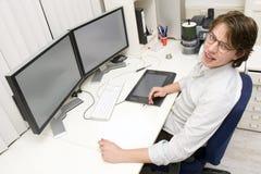 Entwerfer bei der Arbeit lizenzfreie stockfotos