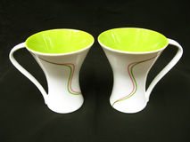 Entwerfer-Kaffeetassen Stockbilder