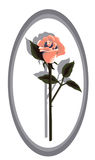 Entwerfer-Koralle Rose vektor abbildung