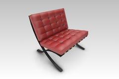 Entwerfer-Stuhl-Rot stock abbildung