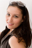 Entwerfergläser - Art und Weisefrauenportrait Lizenzfreies Stockfoto