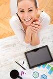 Entwickeln eines Unternehmensplans Lizenzfreie Stockbilder