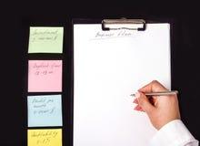Entwickeln eines Unternehmensplans Stockbild