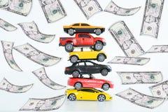 Entwicklung der Preise in der Automobilindustrie Lizenzfreie Stockfotos