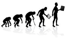 Entwicklung des Mannes und der Technologie Lizenzfreies Stockbild