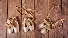 Entwicklung von Ballett pointe Stockfotos