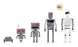 Entwicklung von Robotern, Stadien der androiden Entwicklung lizenzfreie abbildung