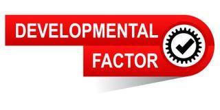 Entwicklungsfaktorfahne stockbild