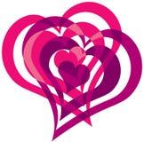 entwined сердца Стоковая Фотография RF