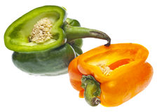 Entwined Bell Peppers Stock Images