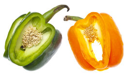 Entwined Bell Peppers Stock Photo