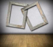 Entwined old wooden frames Royalty Free Stock Image