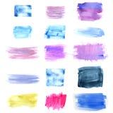 Entworfener abstrakter Aquarellhintergrund Stockbild