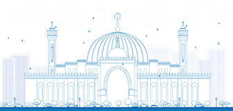 Entwurf Al Fateh Grand Mosque in Manama-Stadt Lizenzfreie Stockbilder