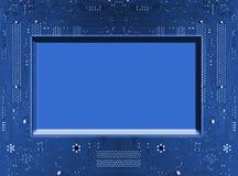 Entwurf auf einem blauen Hintergrund Lizenzfreie Stockbilder