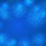 Entwurf auf einem blauen Hintergrund Stockfotografie