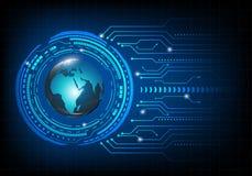 Entwurf auf einem blauen Hintergrund Globales Vernetzungskonzept Stockbilder