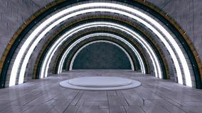 Tunel Innenraum Stockfoto