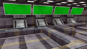 Futuristischer grüner Schirm 3d Lizenzfreie Stockfotos