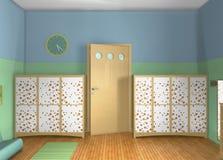 Entwurf 3D Toddlers'-Raum Stockbild